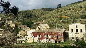 Cunziria - The ancient village of Cunziria at Vizzini.