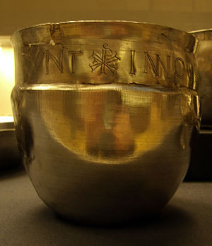 Durobrivae (Water Newton) - Silver cup from the Water Newton Treasure.