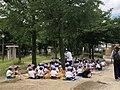 Cute kids eating lunch in Osaka (42817521822).jpg