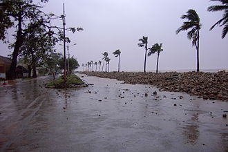 Mahajanga - The coast promenade after the cyclone Gafilo in 2004