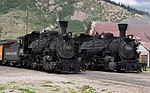 Locomotives 480 and 482 of the Durango & Silverton Narrow Gauge Railroad in 2006