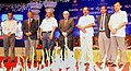 D.V. Sadananda Gowda at the inauguration of the 59th Annual Railway National Awards Function – 2014, in Bangalore on October 10, 2014. The Chairman, Railway Board, Shri Arunendra Kumar and other dignitaries are also seen.jpg