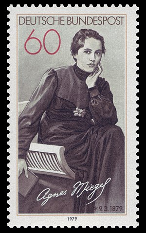 Agnes Miegel - Postage stamp, issued in 1979 by the Deutsche Bundespost in honour of Miegel's 100th birthday