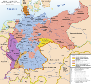 General State Laws for the Prussian States - Fields of Law in the German Empire