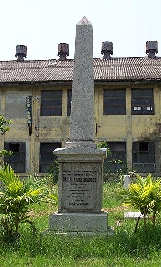 Dan Beach Bradley - Bradley's grave, Bangkok Protestant Cemetery