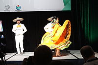 Dancing at the Wikimania 2015 Opening Ceremony IMG 7626.JPG