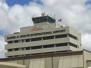 Daniel K. Inouye International Airport - Image: Daniel Inouye Airport Aloha Sign