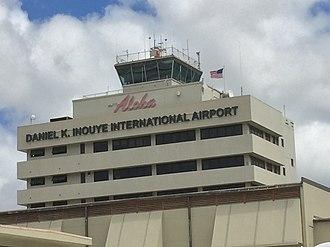 Daniel K. Inouye International Airport - Image: Daniel Inouye Airport Aloha Sign