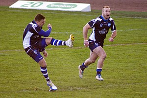 Danny Brough - Danny Brough and Ian Henderson playing for Scotland in 2013 Rugby League World Cup