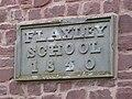 Date stone, Flaxley School - geograph.org.uk - 1218793.jpg