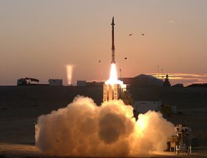 David's Sling - David's Sling Weapons System Stunner Missile launch during final milestone test