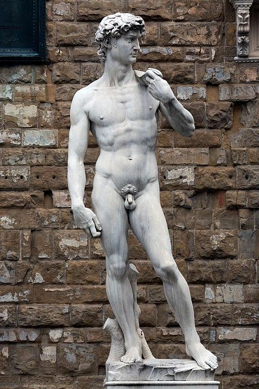 Marble replica of Michelangelo's David, Piazza della Signoria, Firenze