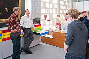 Christian Loeben - Christian E. Loeben (second from the left) leading a tour at the Museum August Kestner, September 2013.