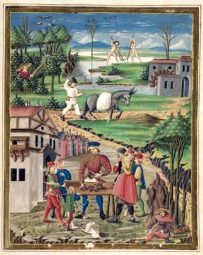 Scene di vita popolare del mondo contadino, portatore di culture e tradizioni ancestrali.[1]
