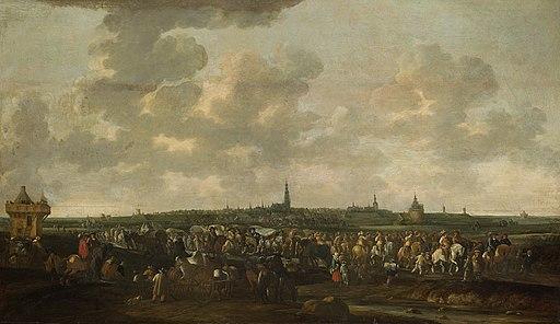 De uittocht van de Spaanse bezetting van Breda, 10 oktober 1637 Rijksmuseum SK-A-1511