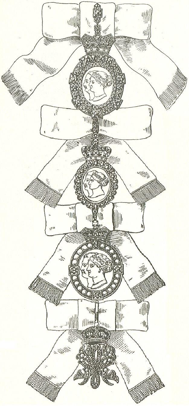 De vier graden van de Koninklijke Orde van Victoria en Albert