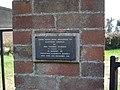 Dedication plaque on Playford churchyard gates - geograph.org.uk - 1213815.jpg