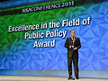 Defense.gov News Photo 110215-F-DQ383-008 - Deputy Secretary of Defense William J. Lynn III gives his remarks after receiving the Excellence in the Field of Public Policy Award at the 2011.jpg