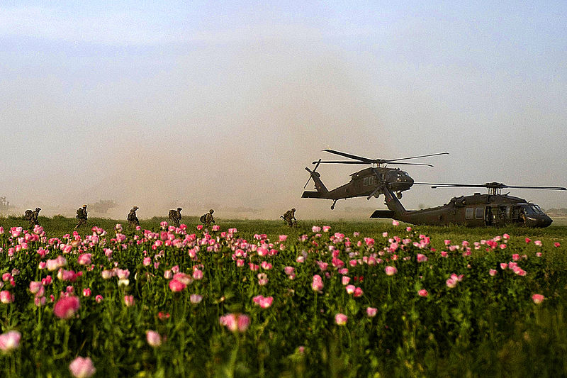 File:Defense.gov News Photo 110426-A-7597S-183 - U.S. Special Operations service members with Special Operations Task Force South board two UH-60 Black Hawk helicopters following a clearing.jpg