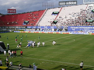 Club Olimpia - Olimpia Asunción in a fixture against 3 de Febrero at the Defensores del Chaco in 2011.