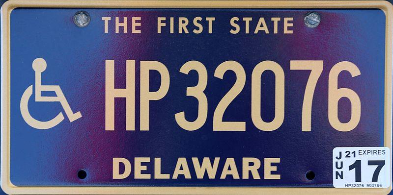 File:Delaware handicap plate HP32076.jpg