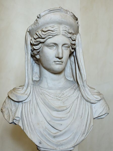 Demeter, the goddess of agriculture, harvest, fertility and sacred law. Roman copy of 4th Century BCE Greek original. (Wikimedia Commons)