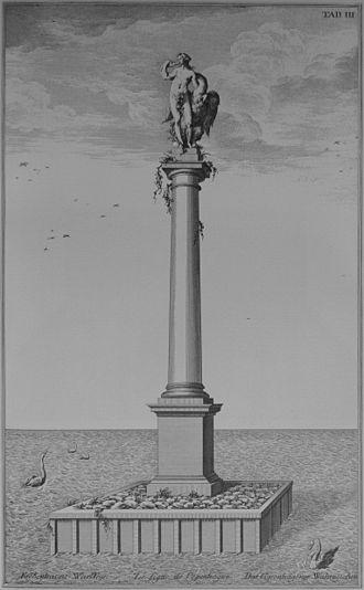 Leda and the Swan (Copenhagen) - Depiction in Thurah's Den Danske Vitruvius