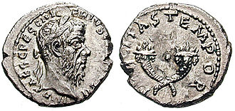 Pescennius Niger - Coin of Pescennius Niger, bearing the inscription (IMPERATOR CAESAR GAIVS PESCENNIVS NIGER IVSTVS AVGVSTVS CONSVL II)