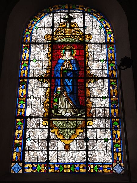 Deneuvre (M-et-M) église St-Rémy, vitrail