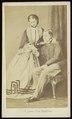 Deron, François - carte de visite, Portret van jong echtpaar, man gezeten.tif