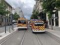 Des pompiers, avenue Berthelot (Lyon), en marge d'une manifestation de gilets jaunes (1).jpg