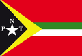 Description Flag of East Timorese party Partido Nasionalista Timorense PNT.png