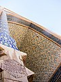 Detail of tiling of big arch of Jame Mosque of Yazd, from base of left column.jpg