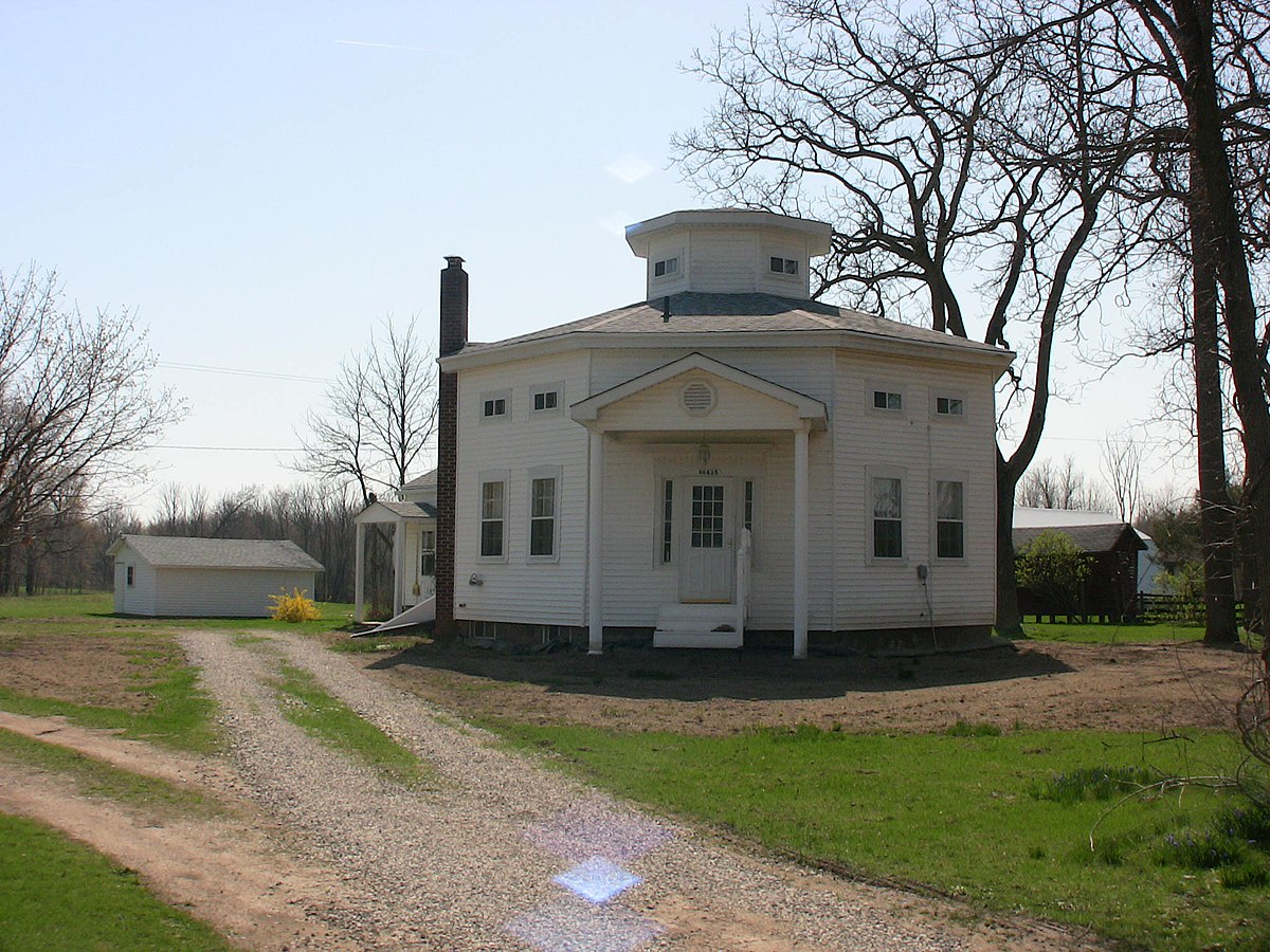 Nathan b devereaux octagon house wikipedia for Octagon homes