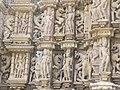 Devi Jagdambi Temple Khajuraho Outer Wall 09.JPG