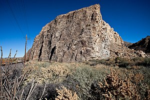 Santa Fe County, New Mexico - Devils Throne, a landmark near Cerrillos