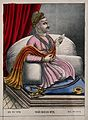 Dhakate Bajirava Saheb. Coloured lithograph, 1888. Wellcome V0045040.jpg