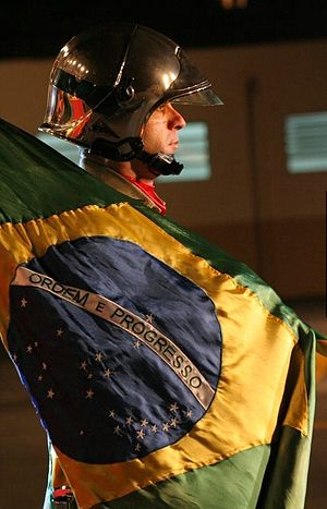 Standard-bearer - Standard-bearer of Firefighters Corps of Paraná State - Brazil.