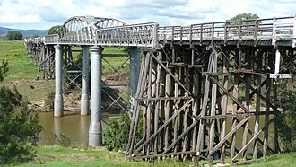 Miva, Queensland - Image: Dickabram Bridge