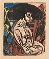 Die Geliebte by Ernst Ludwig Kirchner, 1915, woodcut.jpg