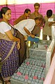 Distribution of Electronic Voting Machines (EVMs) and other election material is in progress for State Assembly Elections in Hoogly, West Bengal on April 21,2006.jpg