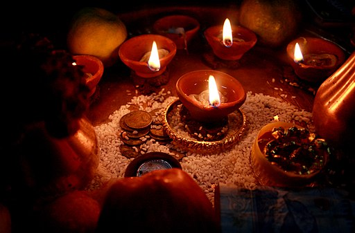 Diwali Oil lamps Darjeeling