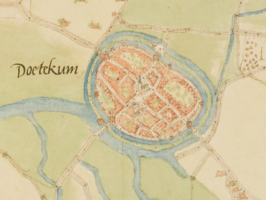 Doetinchem, ca 1560 door Jacob van Deventer
