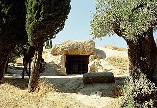Dolmen of Menga dolmen located in Málaga, Spain