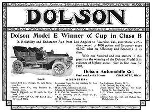 Dolson - Dolson Automobile Company of Charlotte, Michigan - 1906