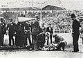 Dorando Pietri après son arrivée au marathon des JO de Londres en 1908 - 2.jpg