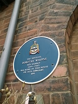 Photo of Dorothy Whipple plaque