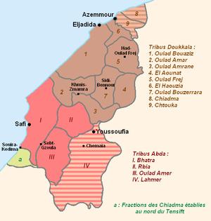 Doukkala-Abda - Image: Doukkala Abda, composition tribale