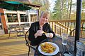Douthat Lakeview Restaurant-deck-customer-picklefries (17637537369).jpg