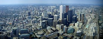 View of downtown Toronto from the CN Tower